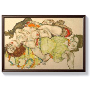 Егон Шиле – Жени лежащи преплетени