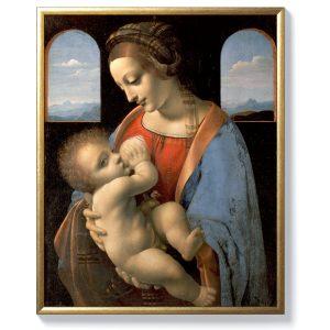 Леонардо да Винчи – Мадоната и младенеца