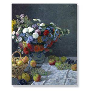 Клод Моне – Натюрморт с цветя и плодове