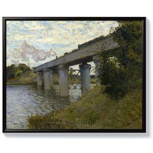 Моне – Железопътен мост в Аржантьой