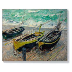 Клод Моне – Три рибарски лодки