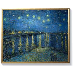 Винсент ван Гог – Звездна нощ над Рона