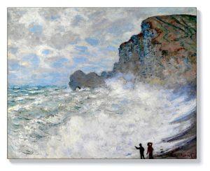 Клод Моне – Бурно време в Етретат