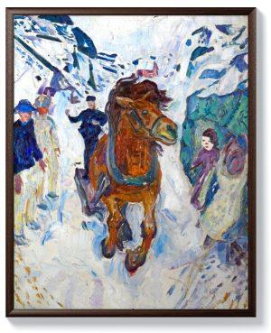 Едвард Мунк – Галопиращ кон