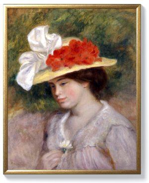 Реноар – Жена със шапка с цветя
