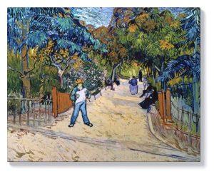 Ван Гог – Входът към обществената градина в Арл