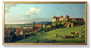 Бернардо Белото – Изглед към Пирна от замъка Соненщайн